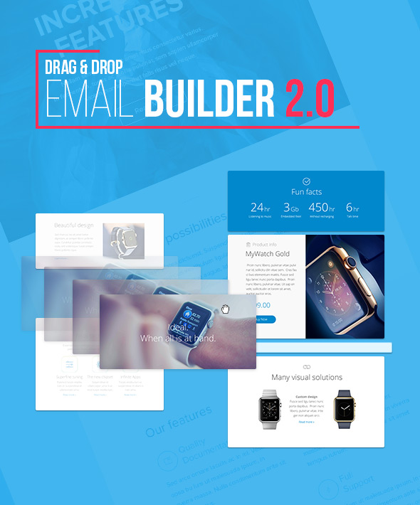 Back in Black Email Template + Online Builder 2.1